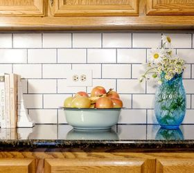 Subway Tile With Glamour Grout Backsplash, How To, Kitchen Backsplash,  Kitchen Design,