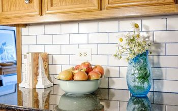 Subway Tile With Glamour Grout Backsplash