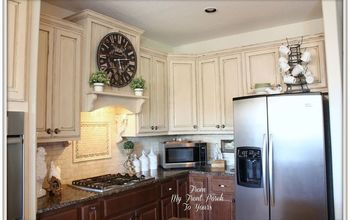 creating a french country kitchen cabinet finish using chalk paint, chalk paint, kitchen backsplash, kitchen cabinets, kitchen design, painting