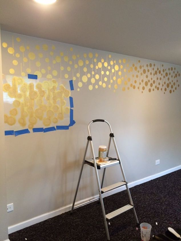 bedroom stencil ideas. Golden Stenciled Bedroom Wall  Ideas Painting Decor Golden Stenciled Bedroom Wall Hometalk