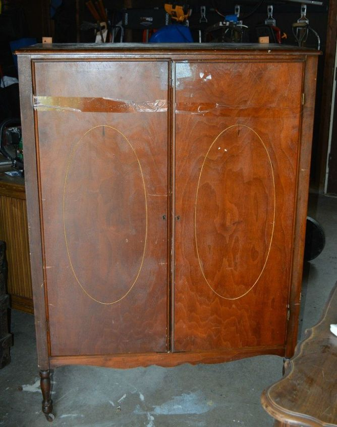 vintage wardrobe makeover, chalk paint, painted furniture, repurposing upcycling, rustic furniture