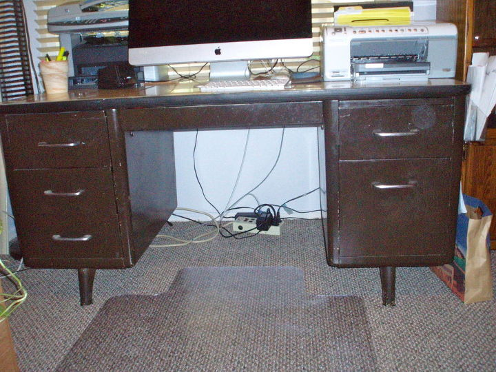 q how to paint an army tanker desk, painted furniture, repurposing upcycling