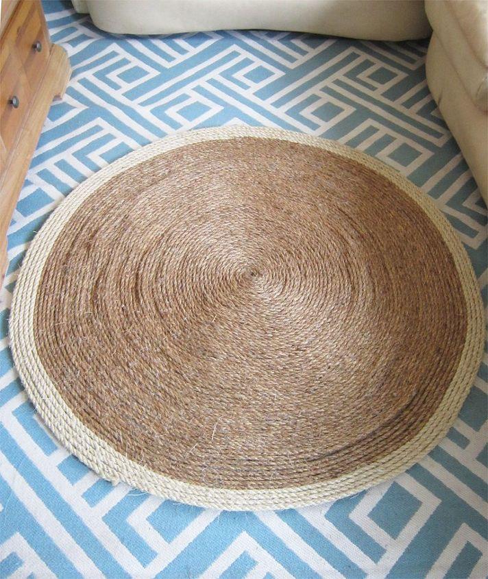 diy sisal rug, how to, repurposing upcycling, reupholster