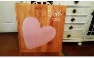 wedding guests wood sign, crafts, how to, woodworking projects