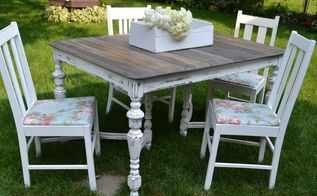 upcycle farmhouse dining set, painted furniture, repurposing upcycling, rustic furniture, reupholster