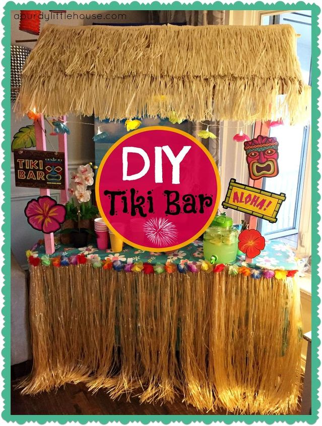diy tiki bar, how to, outdoor living, woodworking projects