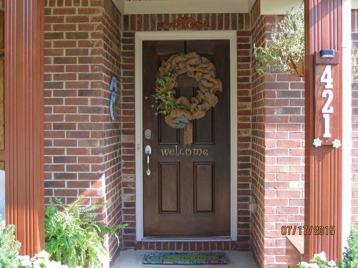 New faux wood door!