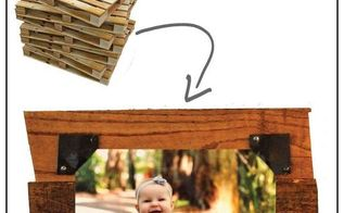 industrial picture frame from a pallet, crafts, how to, pallet, repurposing upcycling, woodworking projects