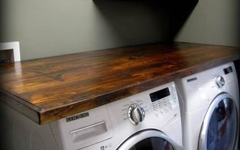 DIY Laundry Room Wood Countertop