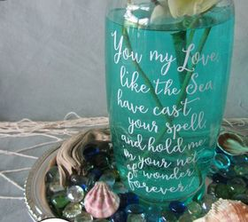 Faux Sea Glass Jars Summer Centerpieces, Crafts, How To, Mason Jars,  Repurposing