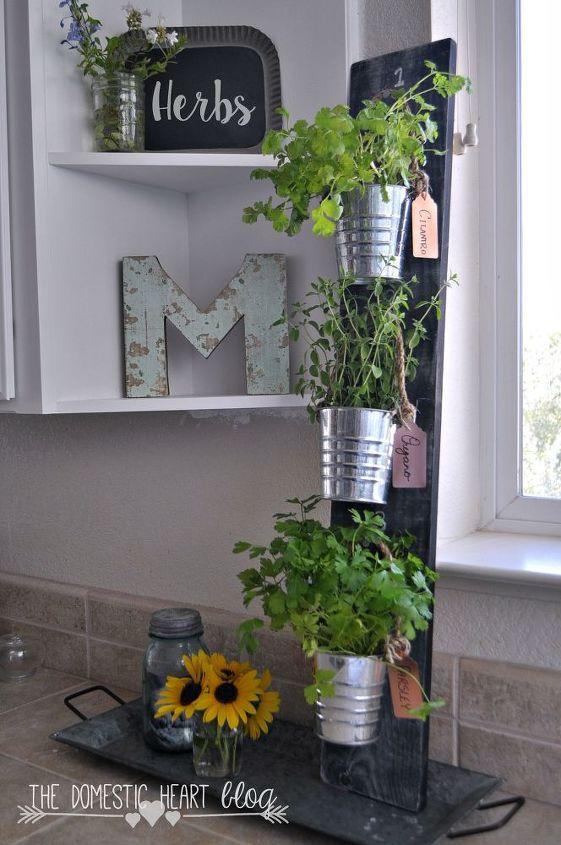 diy simple vertical kitchen herb garden hdgiftchallenge hometalk