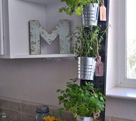 diy simple vertical kitchen herb garden container gardening gardening home decor kitchen