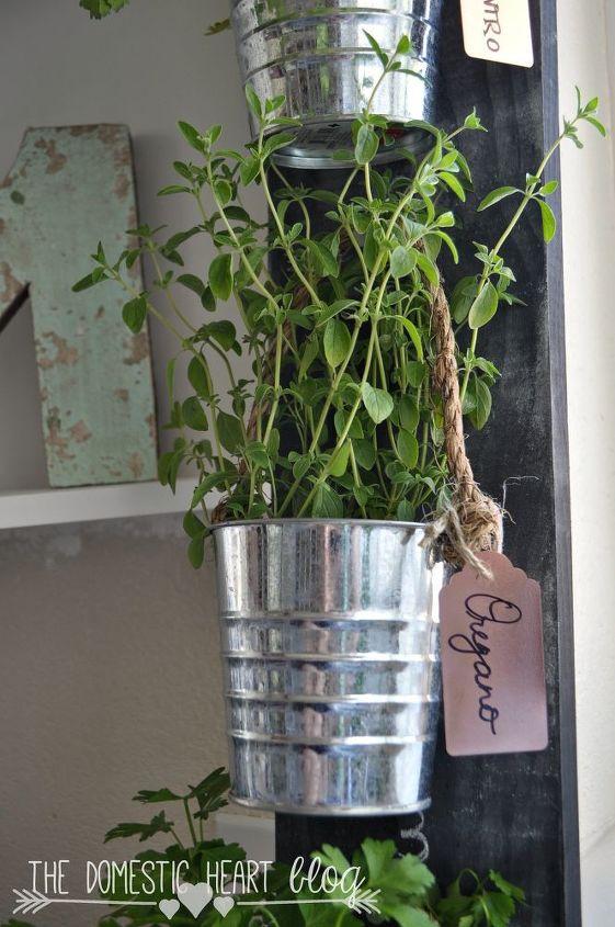 diy simple vertical kitchen herb garden, container gardening, gardening, home decor, kitchen design
