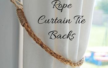 10 Minute Rope Curtain Tie Backs