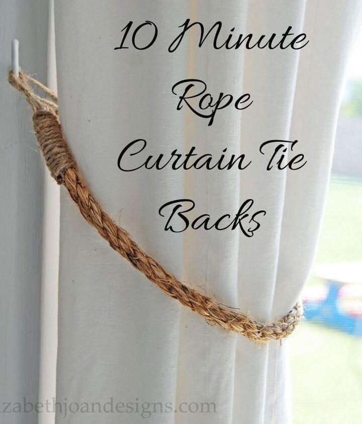 10 Minute Rope Curtain Tie Backs Hometalk