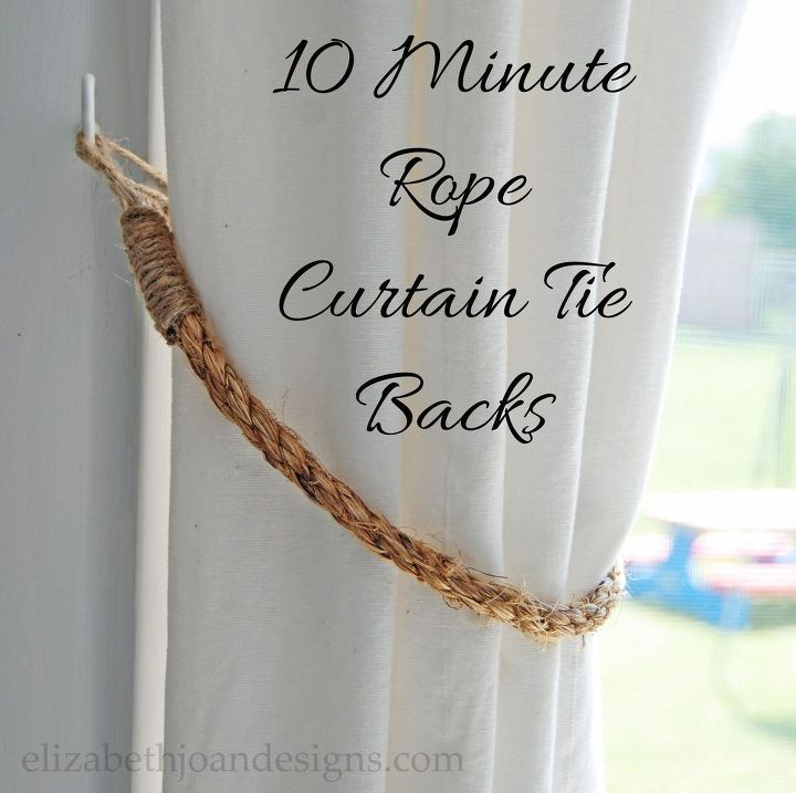 Diy 10 Minute Rope Curtain Tie Backs Crafts How To Window Treatments