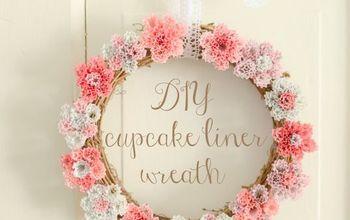 DIY Cupcake Liner Wreath