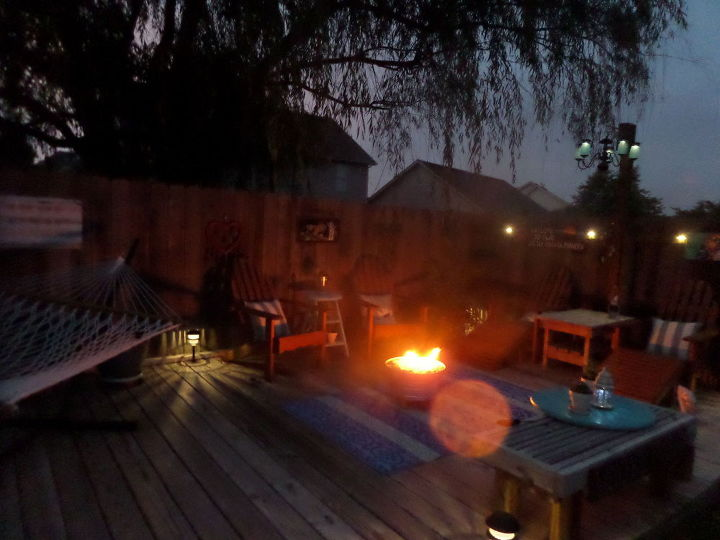 how to make a low budget fire pit by night coffee table by day, how to, outdoor furniture, outdoor living
