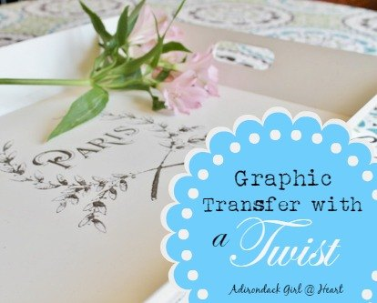 Graphic Transfer With A Twist Hometalk