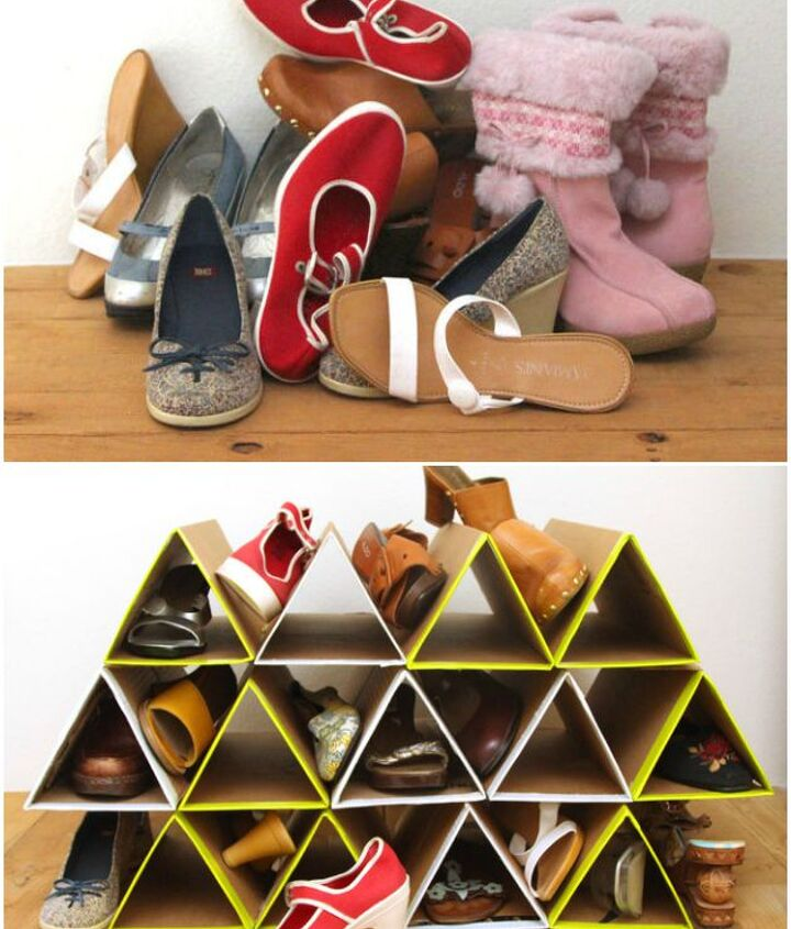 Project via Ananda @[url=http://www.apieceofrainbow.com/diy-shoe-rack/]A Piece of Rainbow[/url]