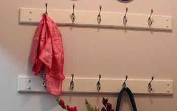 diy shabby chic coat rack, how to, organizing, wall decor