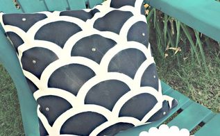 how to easily create outdoor accent pillows, crafts, how to, outdoor furniture, painting, reupholster