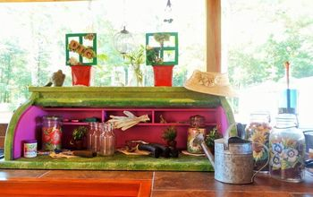 From Child's Roll Top Desk to Counter Potting Shed!