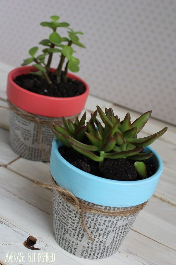 newspaper flower pots, container gardening, crafts, decoupage, gardening, how to, repurposing upcycling