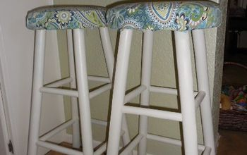 Old Barstools Getting a Makeover!