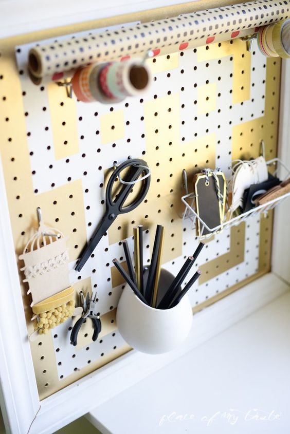 diy pegboard organizer, craft rooms, crafts, how to, organizing