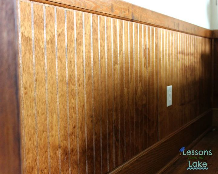 diy farmhouse plank wall, diy, how to, painting, repurposing upcycling, wall decor