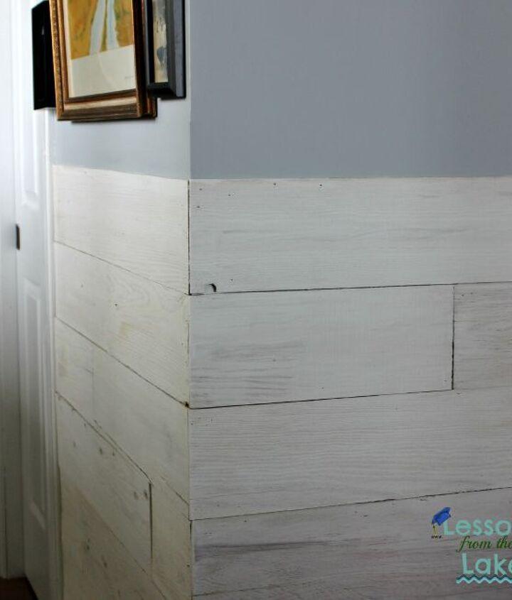 diy farmhouse plank wall, diy, how to, painting, repurposing upcycling, wall decor