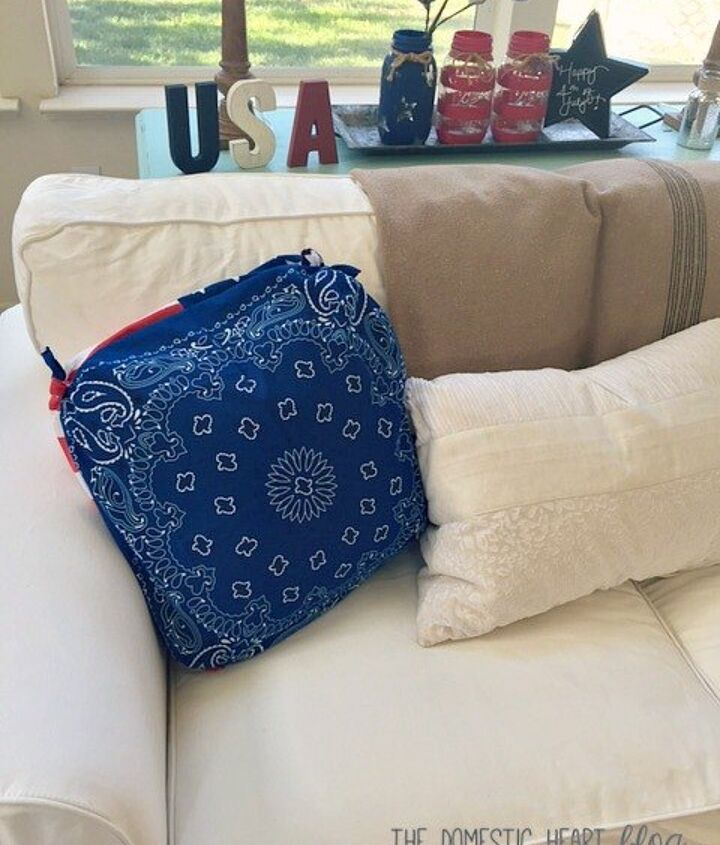 Turn A Bandana Into A Pillow Cover In 30 Seconds Hometalk