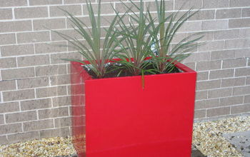 Fancy Red Planter Made From Free Two Drawer Metal Filing Cabinet