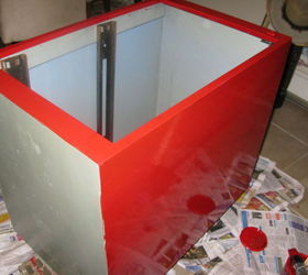 Fancy Red Planter Made From Free Two Drawer Metal Filing Cabinet, Container  Gardening, Gardening