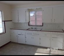 q updating 50 s kitchen with new countertop, countertops, home improvement, kitchen design