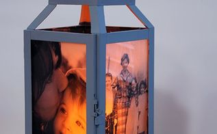 diy photo lantern, crafts, how to, outdoor living, repurposing upcycling