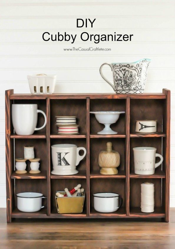 Diy Cubby Organizer Pottery Barn Inspired Organizing Painted Furniture Repurposing Upcycling Storage