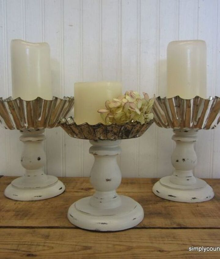repurposed vintage jello molds and thrifted candle holders, crafts, how to, repurposing upcycling
