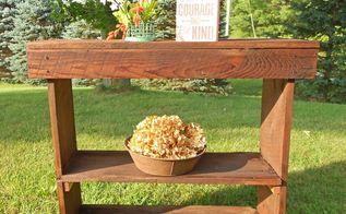 reclaimed wood entry table, diy, painted furniture, repurposing upcycling, rustic furniture