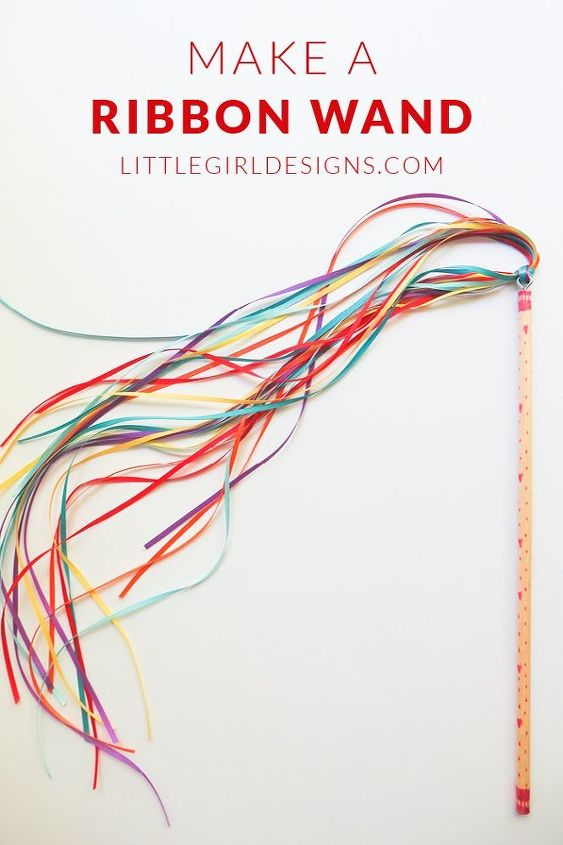 how to make a ribbon wand, crafts, how to