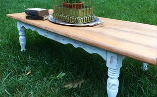 a coffee table gets a farmhouse makeover, painted furniture