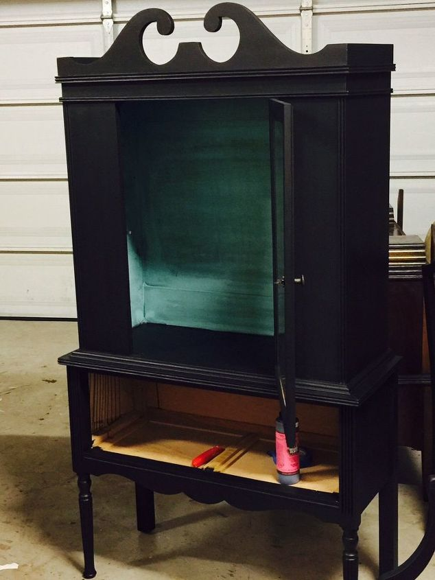 repurposed china cabinet to fab wine bar, painted furniture, repurposing upcycling