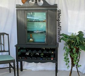Repurposed China Cabinet to Fab Wine Bar | Hometalk