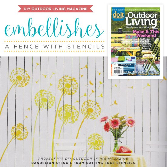 diy outdoor living magazine embellishes a fence with stencils, fences, outdoor living, painting