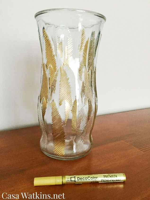 the easiest diy gold leaf vase ever, crafts, how to, repurposing upcycling