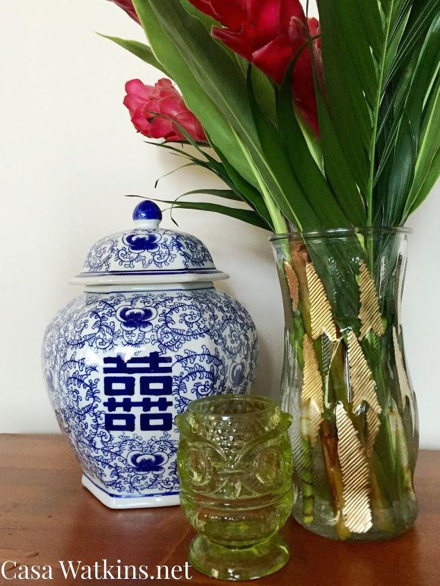 The Easiest Diy Gold Leaf Vase Ever Hometalk