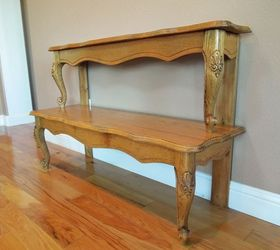 entryway table from repurposed coffee table painted furniture repurposing upcycling