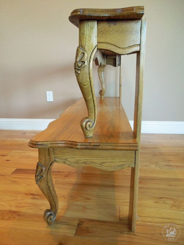 entryway table from repurposed coffee table, painted furniture, repurposing upcycling