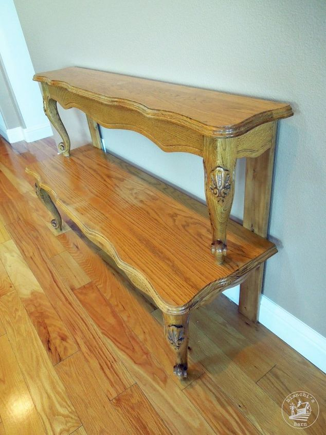 Entryway Table From Repurposed Coffee Painted Furniture Repurposing Upcycling